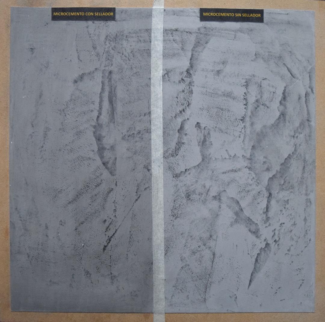 Textura Microcemento con y sin Sellador